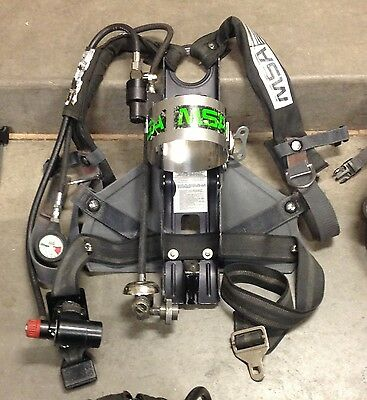 MSA MMR 4500psi SCBA Air Pack Harness w/Mask Mount Regulator