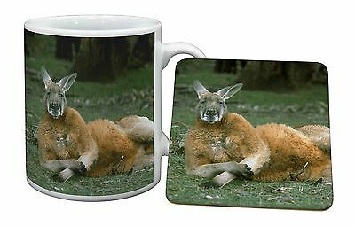 Cheeky Kangaroo Mug+Coaster Christmas/Birthday Gift Idea, AK-1MC