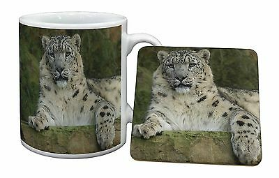 Beautiful Snow Leopard Mug+Coaster Christmas/Birthday Gift Idea, AT-47MC
