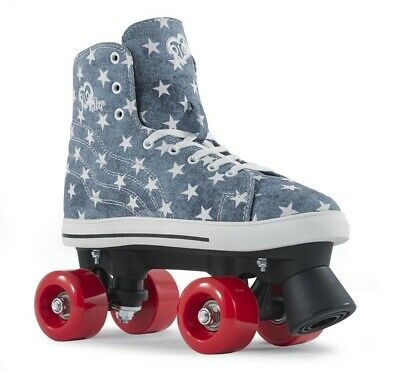 Rio Roller Canvas Style Kids/Adult Quad Skates - Blue Jean