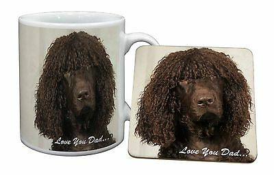 Irish Water Spaniel 'Love You Dad' Mug+Coaster Christmas/Birthday Gift, DAD-59MC