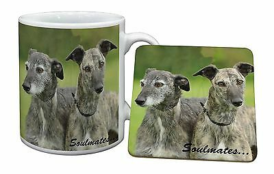 Whippet Dogs 'Soulmates' Sentiment Mug+Coaster Christmas/Birthday Gif, SOUL-41MC