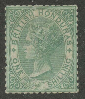 British Honduras 1872 QV 1sh green Sc #7 Mint