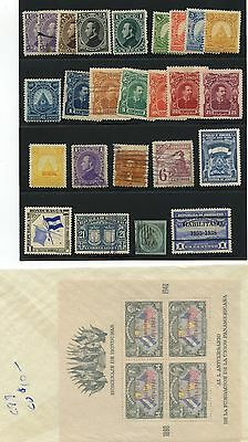 Honduras 1865-1900 collection mixed mint and used