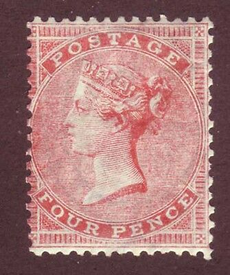 Great Britain 1855 QV 4p rose Sc 26, SG 66a MOG