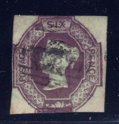 Great Britain 1854 QV 6p red violet Embossed Sc #7 used