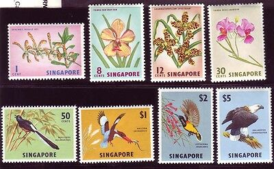 Singapore 1963 Flowers & Birds set Sc #62-69 VF mlh
