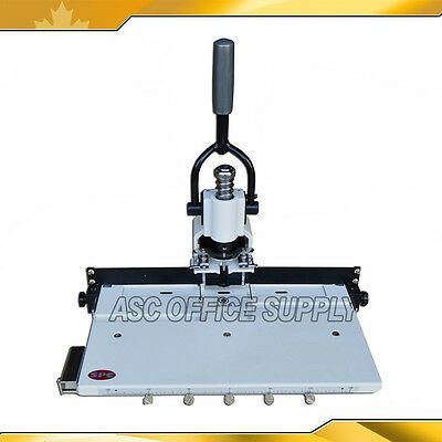 """Paper Hole Drill Punch Machine 300 Sheets 1/4"""" 6mm Heavy Duty with Moving Table"""