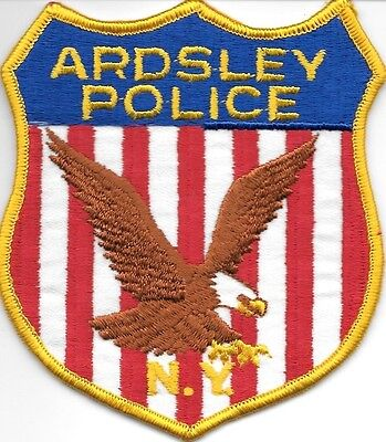 "Ardsley, New York (4"" x 4.5"") shoulder police patch (fire)"