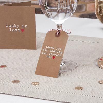 10 x Just My Type Rustic Vintage Wedding Luggage / Favour Tags Thank You Large