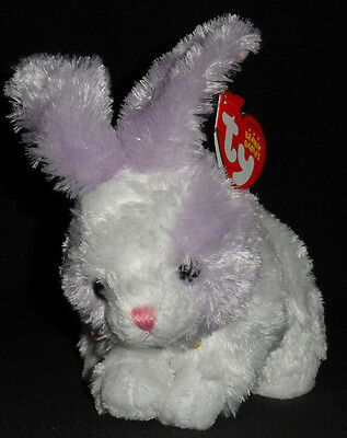 TY SHERBET the PURPLE BUNNY BEANIE BABY - MINT with MINT TAGS