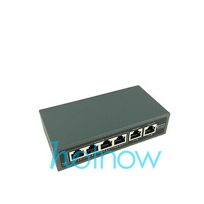 DSLRKIT 5 Ports 4 PoE Injector Power Over Ethernet Switch without Power Adapter