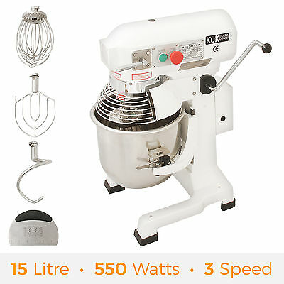 15L Commercial Food Mixer Dough Stand Planetary Mixer Cake Bakery Equipment