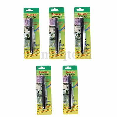 5X Fake Forged Currency Money Bill Bank Note Pen Checker Detector Tester Black