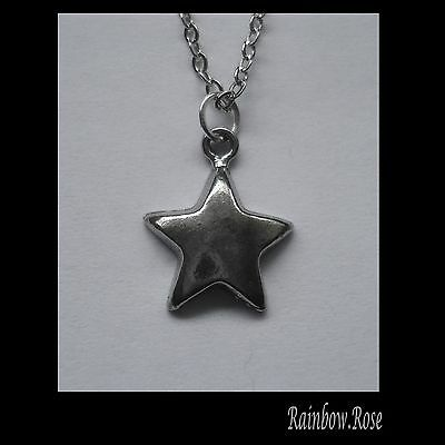 Chain Necklace #2308 Pewter LITTLE STAR (15mm x 12mm)