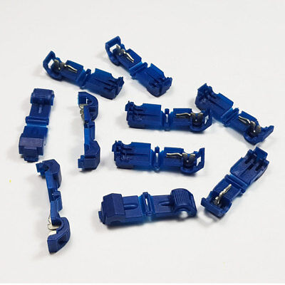 Insulated Blue Wire Tap T-Tap Low Voltage Connector Terminals Crimp Scotchlok
