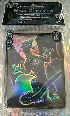 Max Protection Neo Card Sleeves - 50 Pack - Robo Fury Dragon Blue - YuGiOh