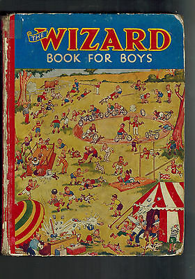WIZARD BOOK FOR BOYS 1937 from Wizard Comic - D. C. Thomson