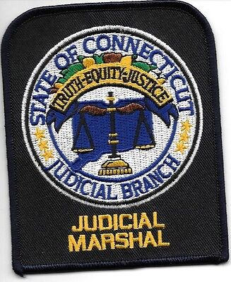 "Connecticut Judicial Marshal (3.5"" x 4.25"") shoulder police patch (fire)"