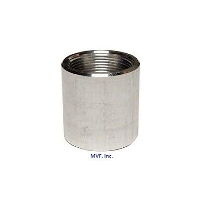 "1-1/2"" NPT Threaded Full Coupling Aluminum 6061-T Sch 40 Pipe Fitting A050841"
