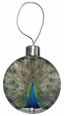 Rainbow Feathers Peacock Christmas Tree Bauble Decoration Gift, AB-PE13CB