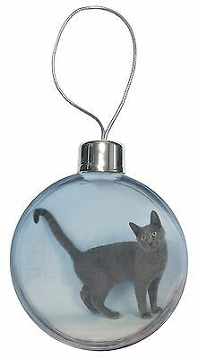 Russian Blue Cat Christmas Tree Bauble Decoration Gift, AC-108CB