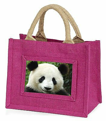 Face of a Giant Panda Bear Little Girls Small Pink Shopping Bag Christ, ABP-3BMP