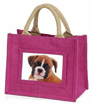 Red and White Boxer Puppy Little Girls Small Pink Shopping Bag Christ, AD-B43BMP