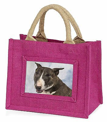 Brindle Bull Terrier Dog Little Girls Small Pink Shopping Bag Christ, AD-BUT3BMP