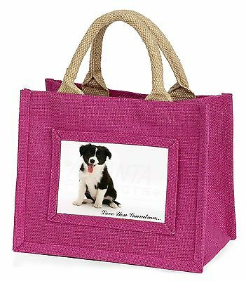 Border Collie 'Love You Grandma' Little Girls Small Pink Shopping, AD-CO45lygBMP