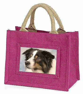TriCol Border Collie Dog Little Girls Small Pink Shopping Bag Christm, AD-CO5BMP