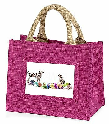 Colourful Dalmatian Dogs Little Girls Small Pink Shopping Bag Christm, AD-DA2BMP