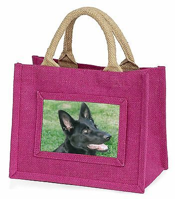 Black German Shepherd Dog Little Girls Small Pink Shopping Bag Christm, AD-G3BMP