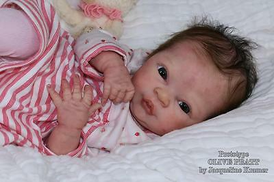 "NEW Reborn ~ Baby Olive ~ 18.5"" Vinyl Doll Parts Kit by Denise Pratt 2948"
