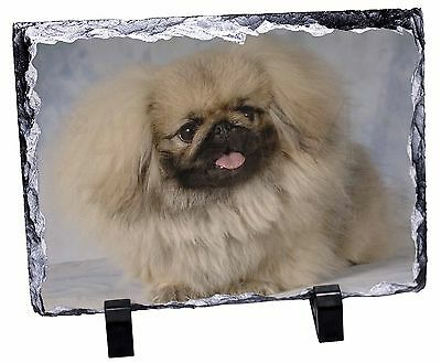 Pekingese Dog Photo Slate Christmas Gift Ornament, AD-PK3SL