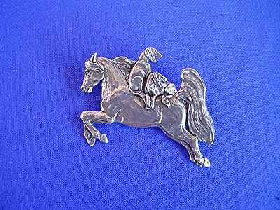 Salukis Arabian Catching a Ride PIN #15P Pewter Dog Jewelry by Cindy A. Conter
