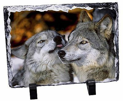 Wolves  in Love Photo Slate Christmas Gift Ornament, AW-9SL