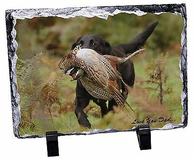 Labrador with Pheasant 'Love You Dad' Photo Slate Christmas Gift Ornam, DAD-64SL