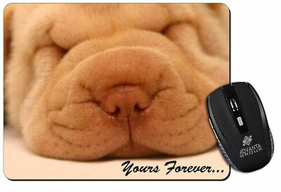 Shar-Pei Puppy 'Yours Forever' Computer Mouse Mat Christmas Gift Idea, AD-90yM