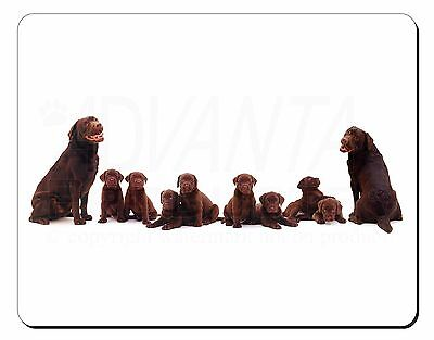 Chocolate Labrador Puppies Computer Mouse Mat Christmas Gift Idea, AD-L52M