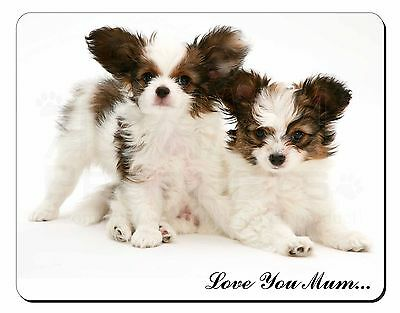 Papillon Dogs 'Love You Mum' Computer Mouse Mat Christmas Gift Idea, AD-PA65lymM