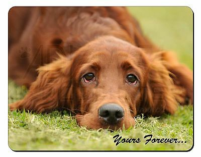 Red Setter Dog 'Yours Forever' Computer Mouse Mat Christmas Gift Idea, AD-RS2yM