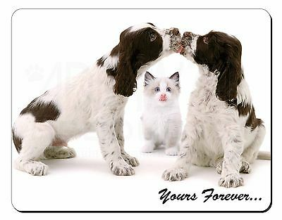 Dogs and Cat 'Yours Forever' Computer Mouse Mat Christmas Gift Idea, AD-SC57M