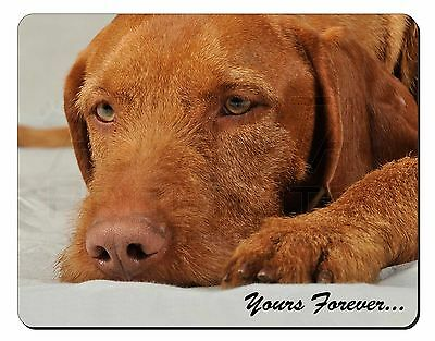 Hungarian Vizsla 'Yours Forever' Computer Mouse Mat Christmas Gift Idea, AD-V3yM