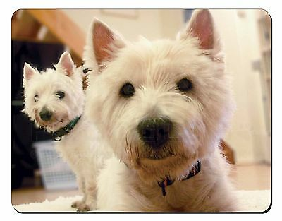 AD-W7RM West Highland Terrier with Rose Computer Mouse Mat Christmas Gift Idea