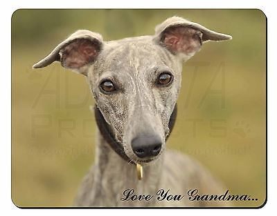 Whippet Dog 'Love You Grandma' Computer Mouse Mat Christmas Gift Id, AD-WH92lygM