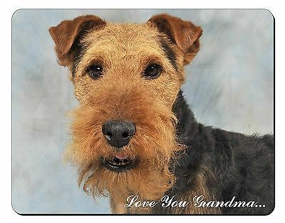 Welsh Terrier 'Love You Grandma' Computer Mouse Mat Christmas Gift I, AD-WT1lygM