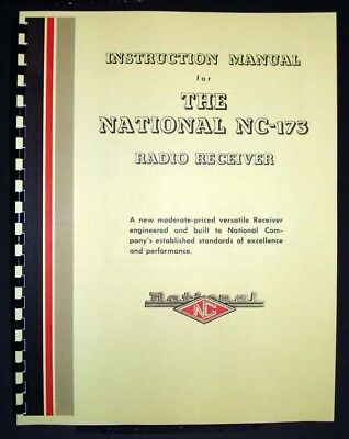 National NC-173 NC173 Radio Receiver Manual