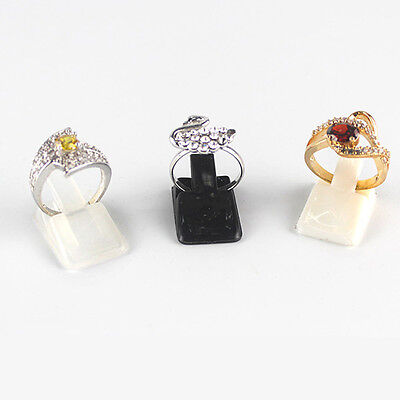 20pcs Portable Finger Rings Display Rack Holder Stand for Jewelry Show Clear New