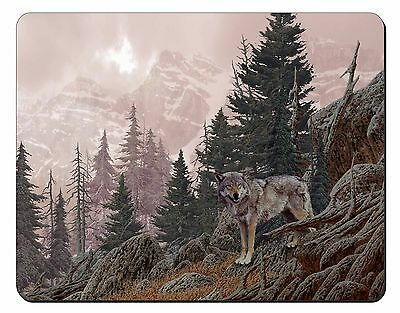 Mountain Wolf Computer Mouse Mat Christmas Gift Idea, AW-4M